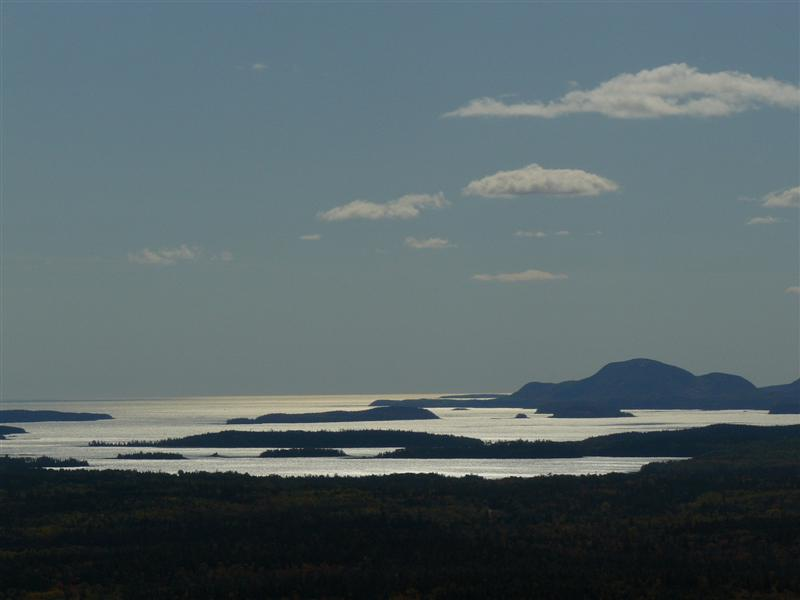 acadia from top of schoodic mountain