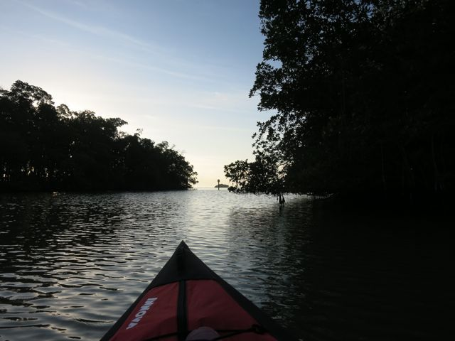heading out into Florida Bay for early morning kayaking