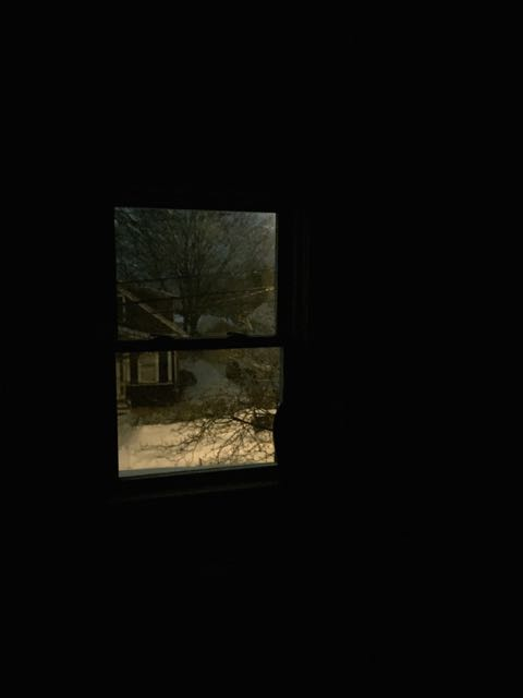winter night window